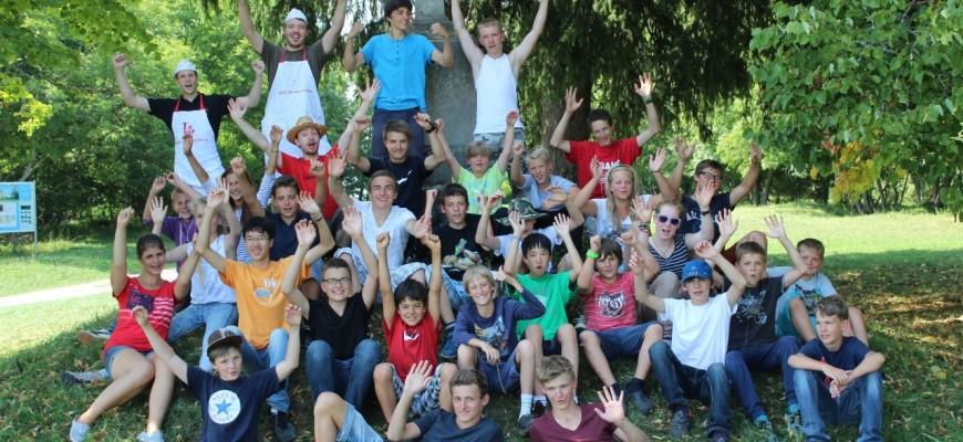 Gruppenfoto Zeltlager 2013
